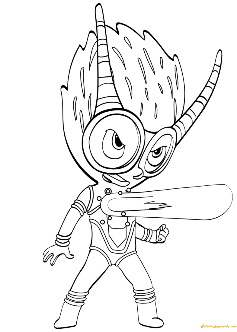 the firefly villain from pj masks coloring page  free