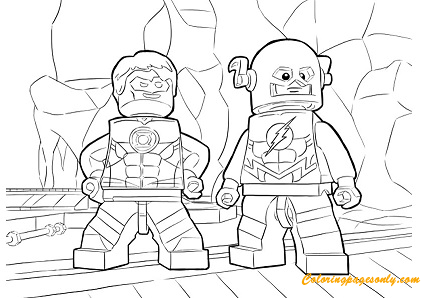 The Flash Characters Lego Coloring Page Free Coloring Pages Online