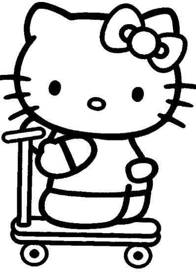 Hello Kitty X Japan Yoshiki Coloring Page