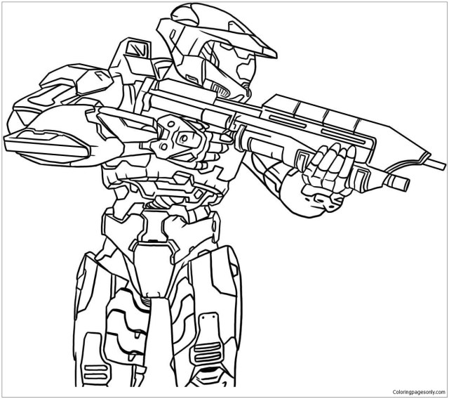 The Knight Halo Coloring Pages - Cartoons Coloring Pages