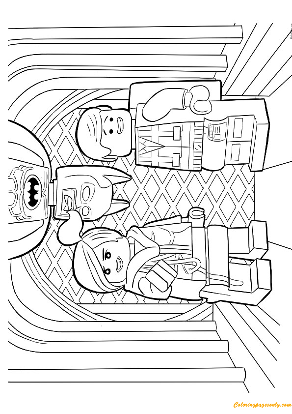 The Lego Avenger Team Coloring Page Free Coloring Pages
