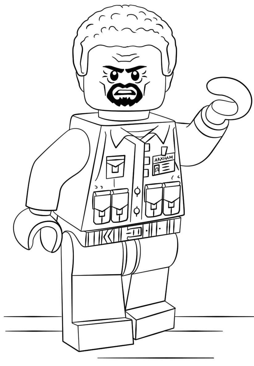 Lego City Police Helicopter Coloring Page Free Coloring