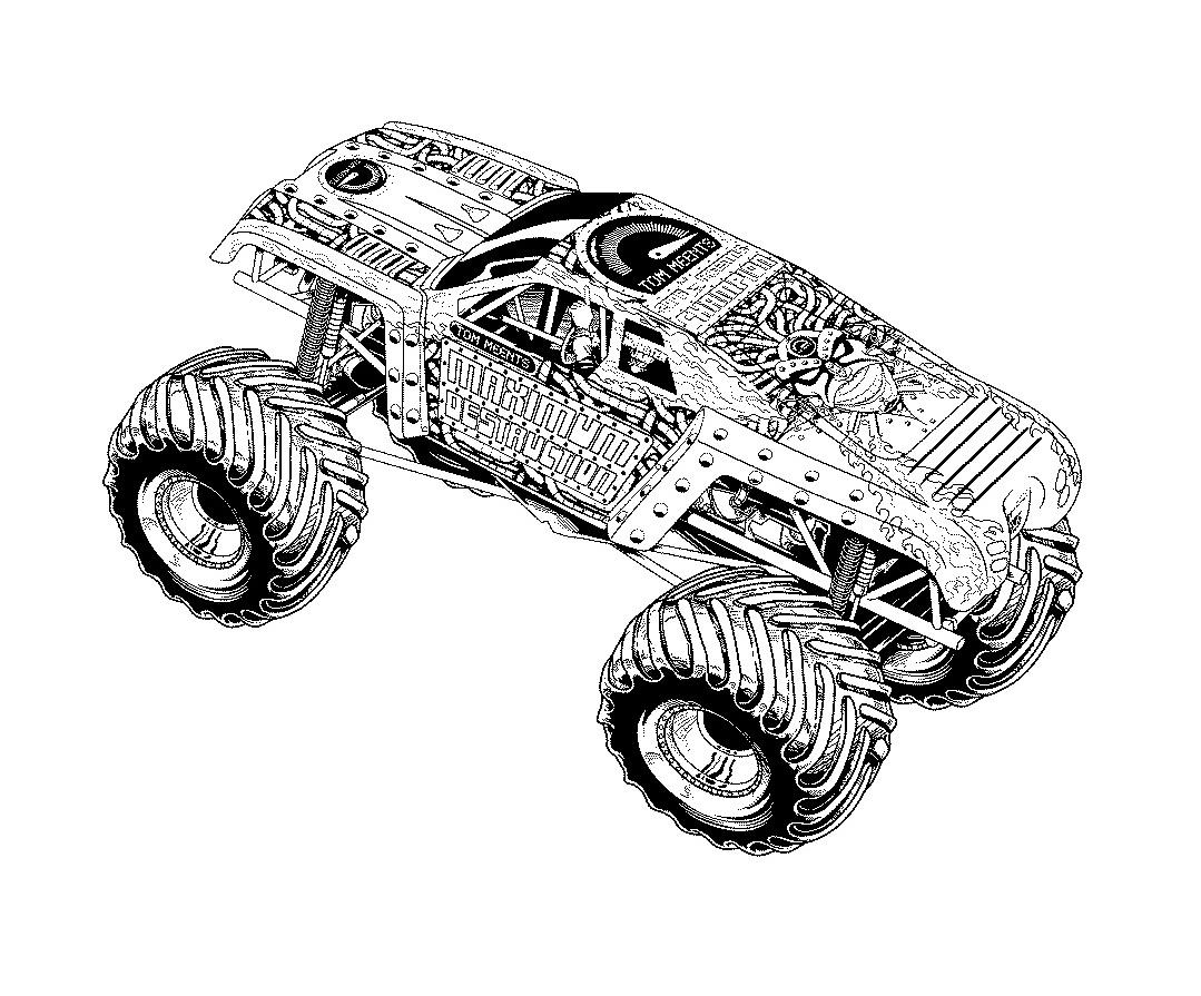 Monster Truck Bilder Zum Ausmalen - Malvorlagen Gratis