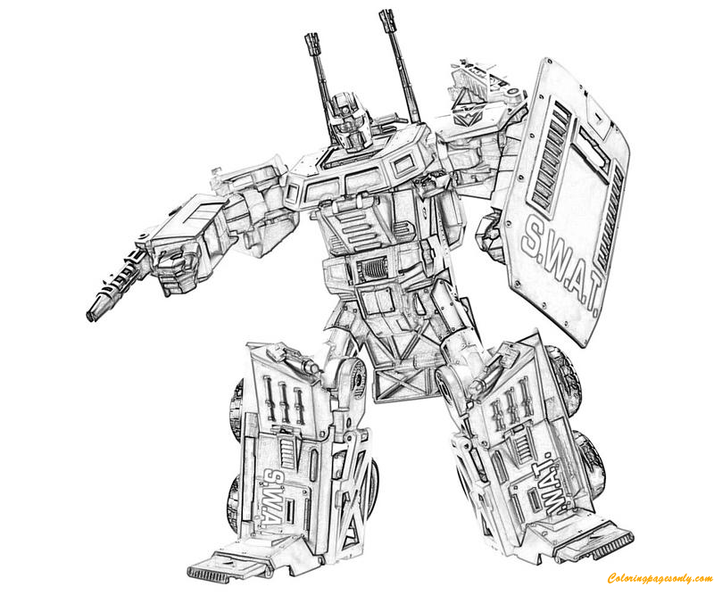 Transformers Fall of Cybertron Onslaught Coloring Page