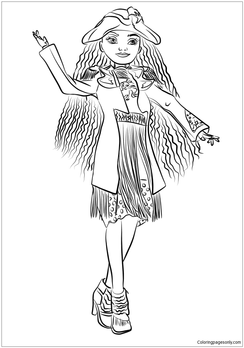 Uma From Descendants Coloring Page Free Coloring Pages Online