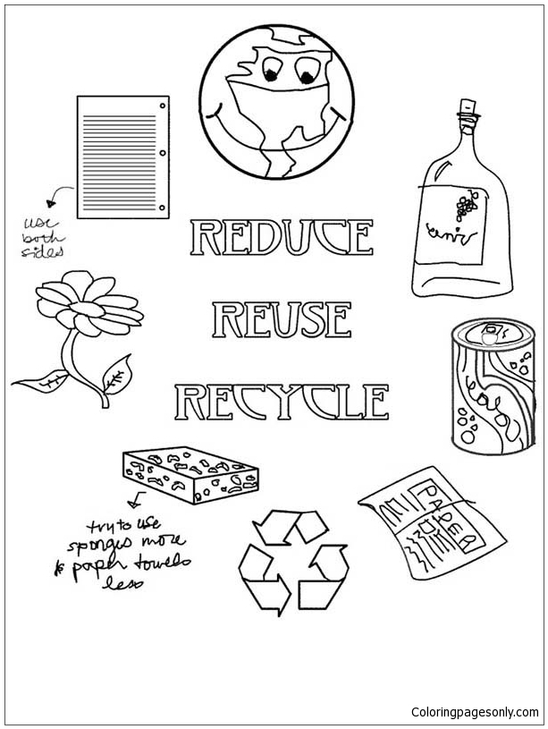 Using Waste For Recycling Coloring Page Free Coloring