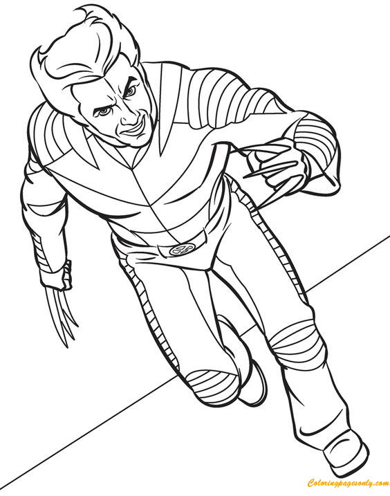 Wolverine Coloring Page Free Coloring Pages Online