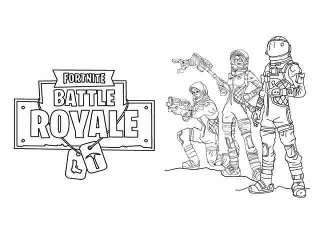 Space Exploration with multiple Astronauts from Fortnite Coloring
