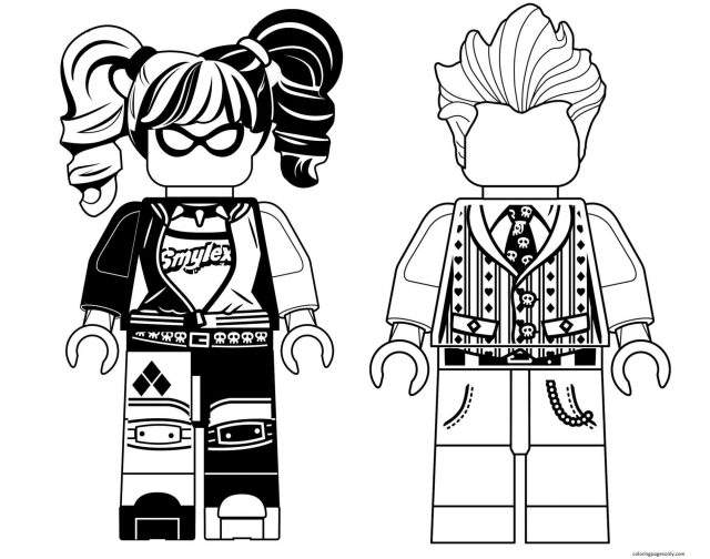 Harley Quinn and Joker Coloring Pages - Harley Quinn Coloring