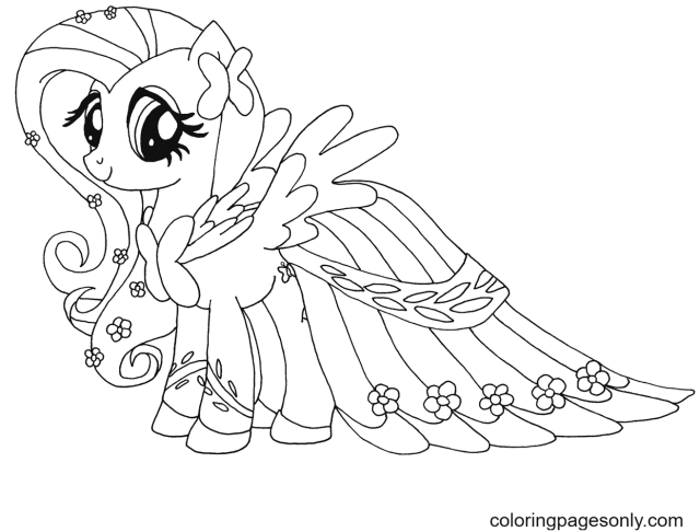 Fluttershy My Little Pony Free Coloring Pages - My Little Pony
