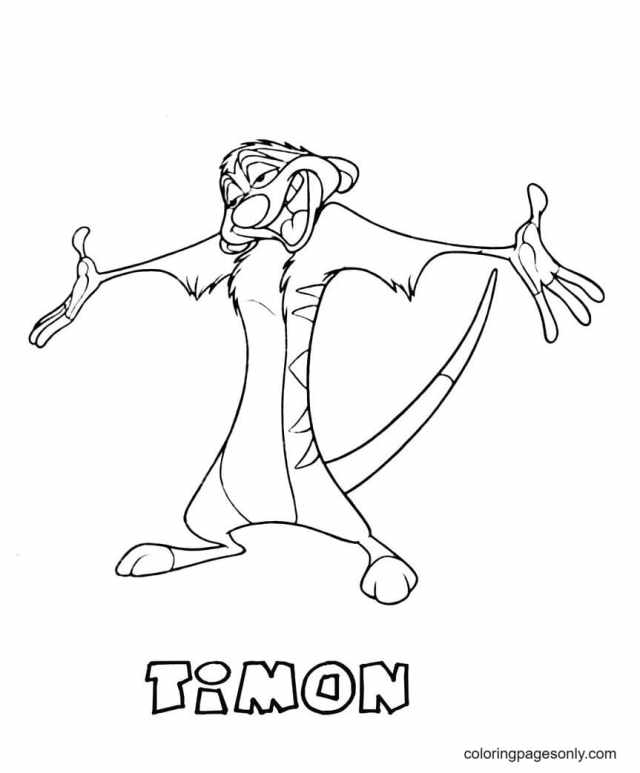 Timon From The Lion King Coloring Pages - The Lion King Coloring