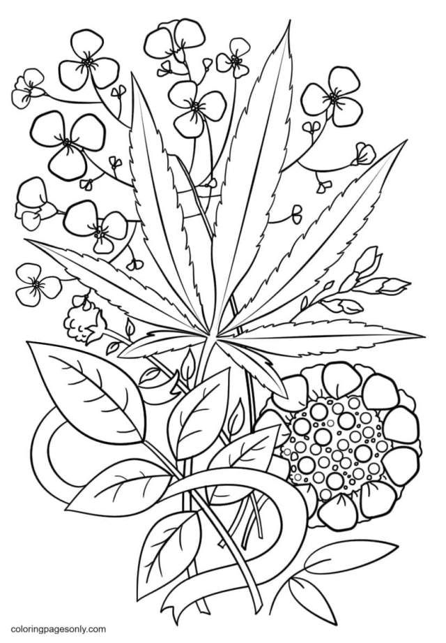 Trippy Weed Coloring Pages - Trippy Coloring Pages - Coloring
