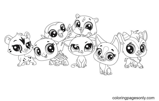 Littlest Pet Shop styles Coloring Pages - Littlest Pet Shop