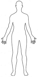 outline human body drawing coloring pages person template anime basic side shape print bodies sketch male templates printable comes mark