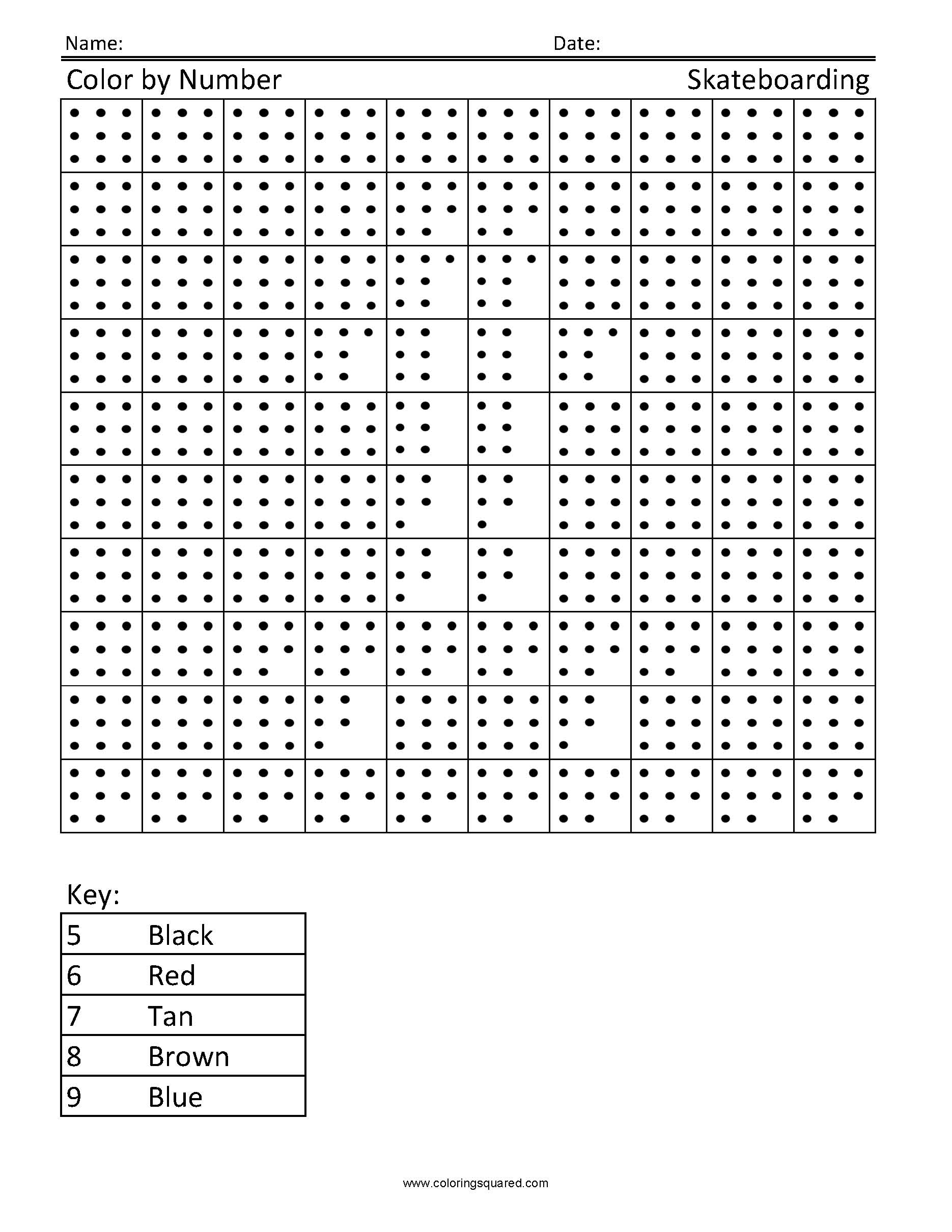 Multiplication Mosaics Worksheet