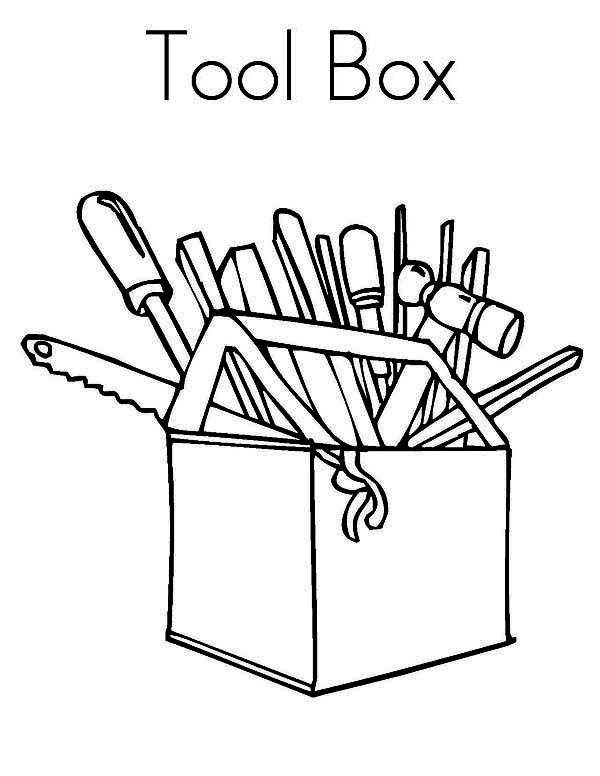 Tool Box Coloring Page : coloring, Coloring