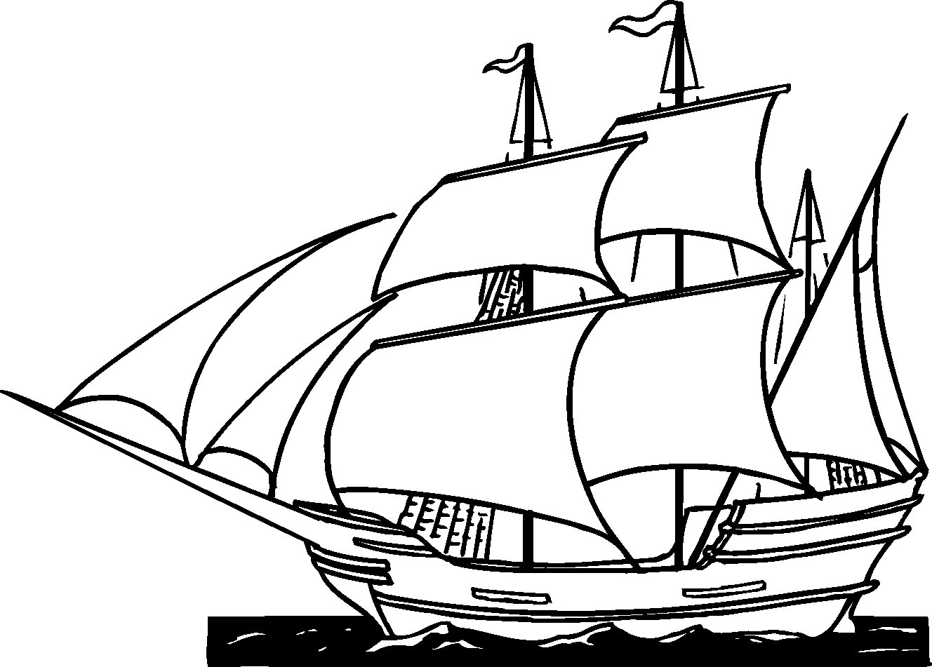 Ship coloring pages to download and print for free