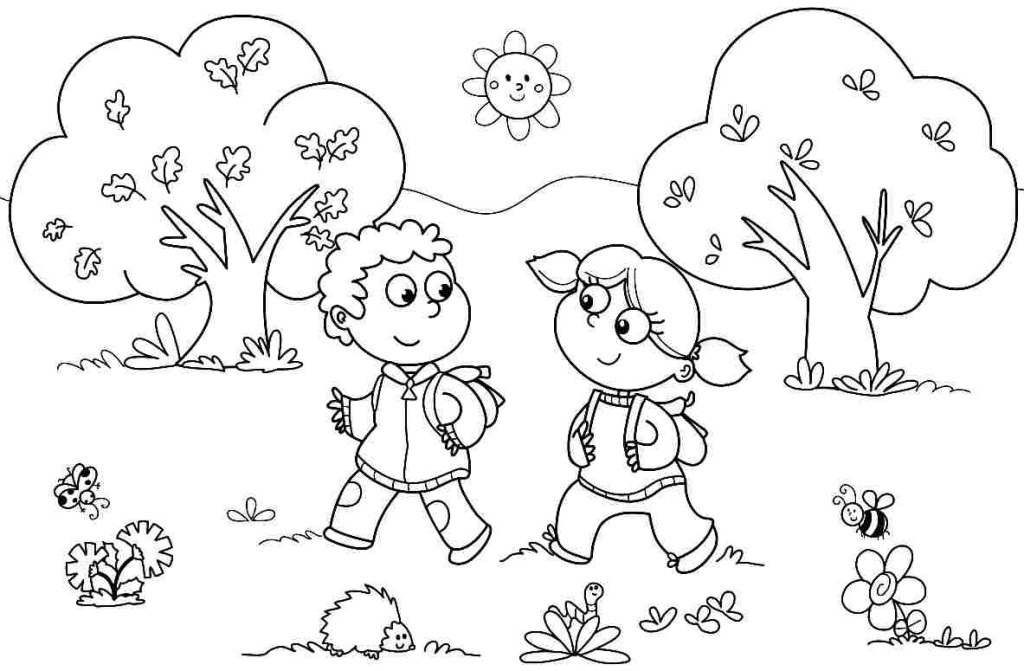 Kindergarten coloring pages to download and print for free
