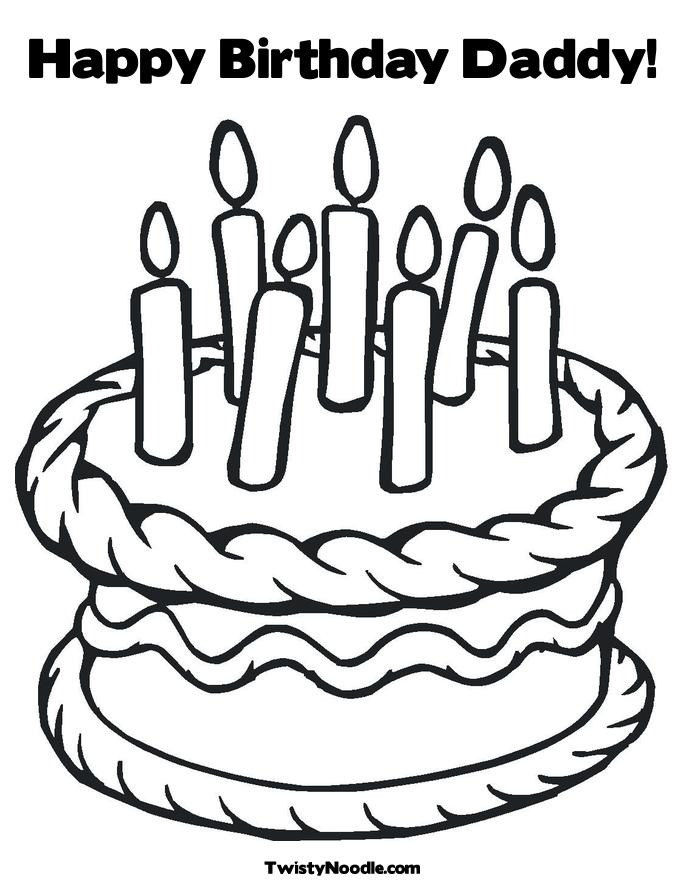 Happy birthday daddy coloring pages to download and print