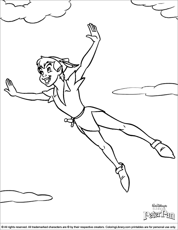 Peter pan coloring pages to download and print for free