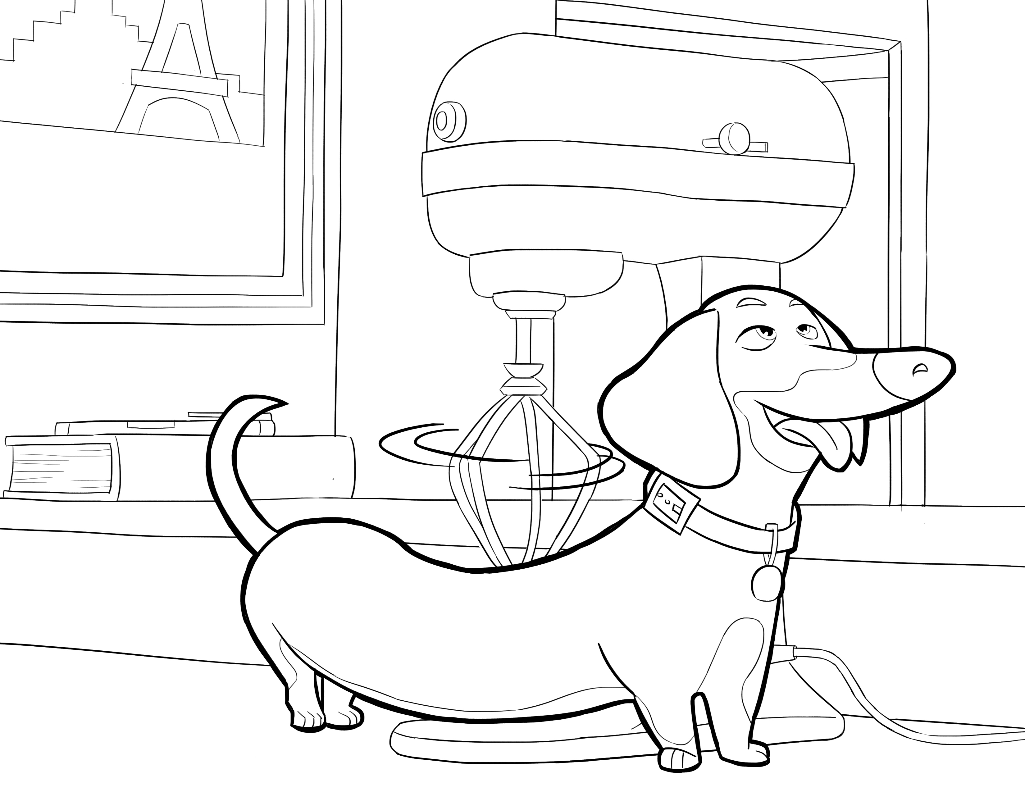 The secret life of pets coloring pages to download and
