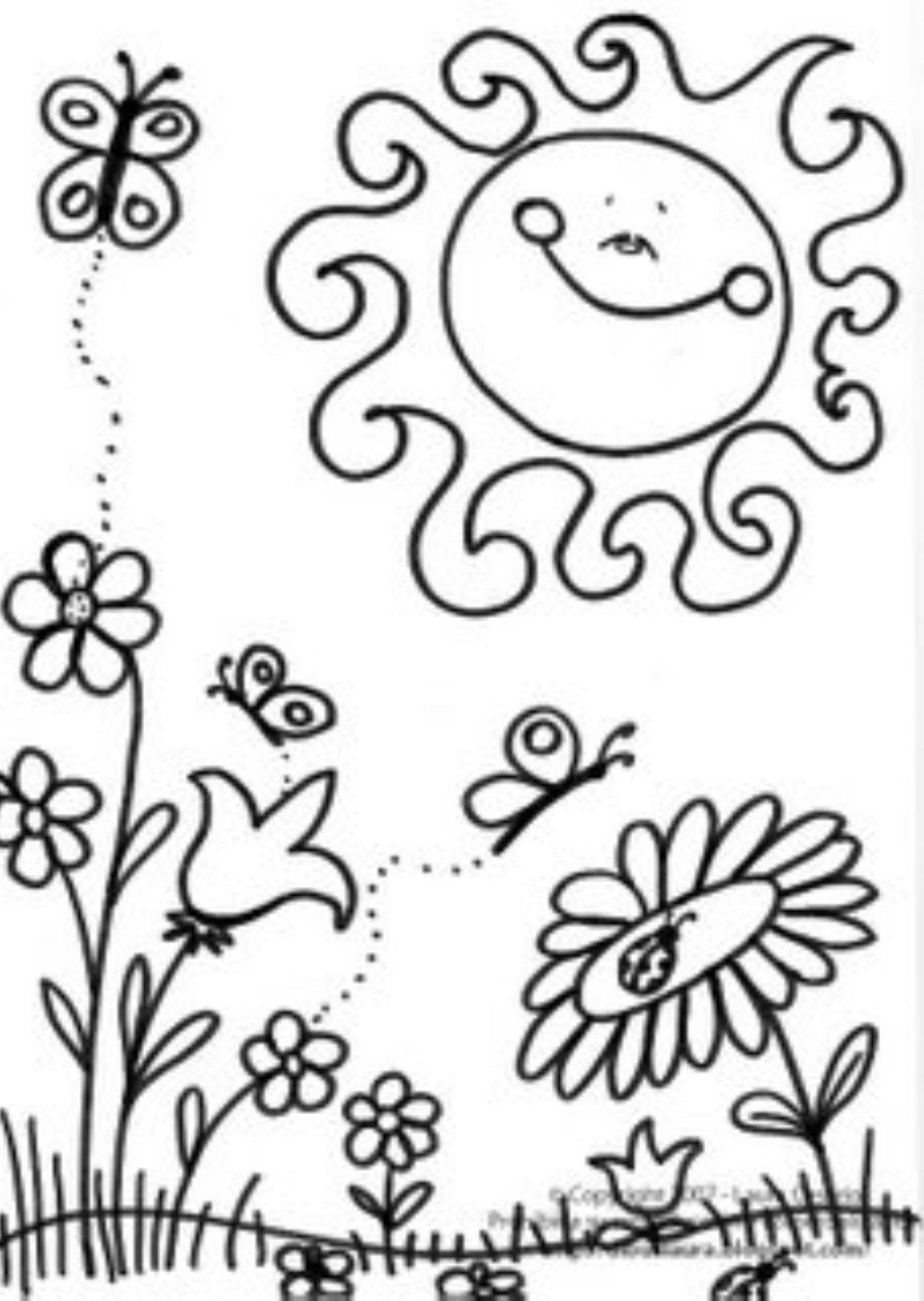 Spring coloring pages to download and print for free | coloring pages for kindergarten