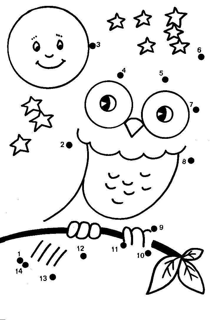 Dot to dot coloring pages to download and print for free