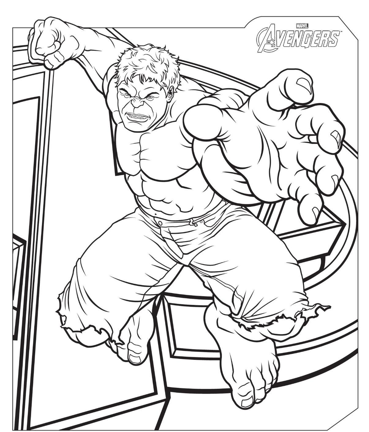 Avengers coloring pages to download and print for free