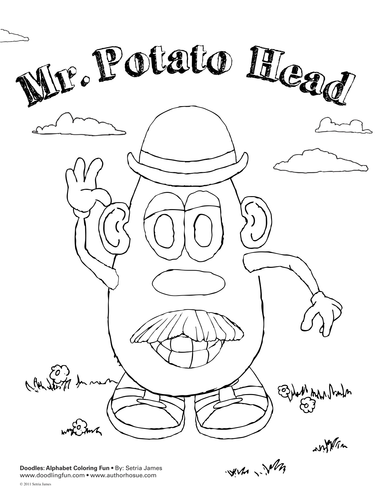 Mr potato head coloring pages to download and print for free