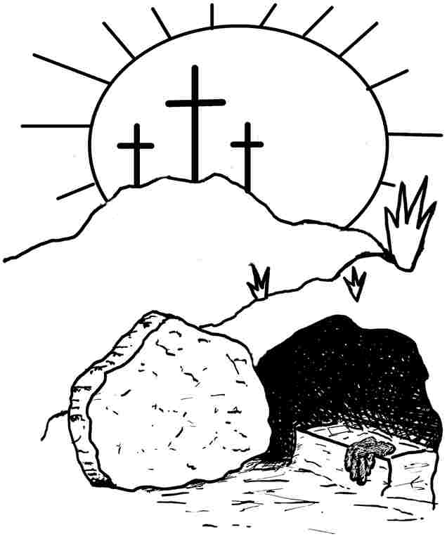 Religious easter coloring pages to download and print for free