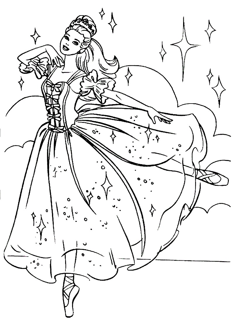 Ballet coloring pages to download and print for free