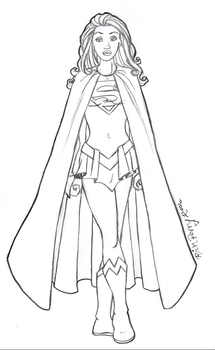 Supergirl coloring pages to download and print for free