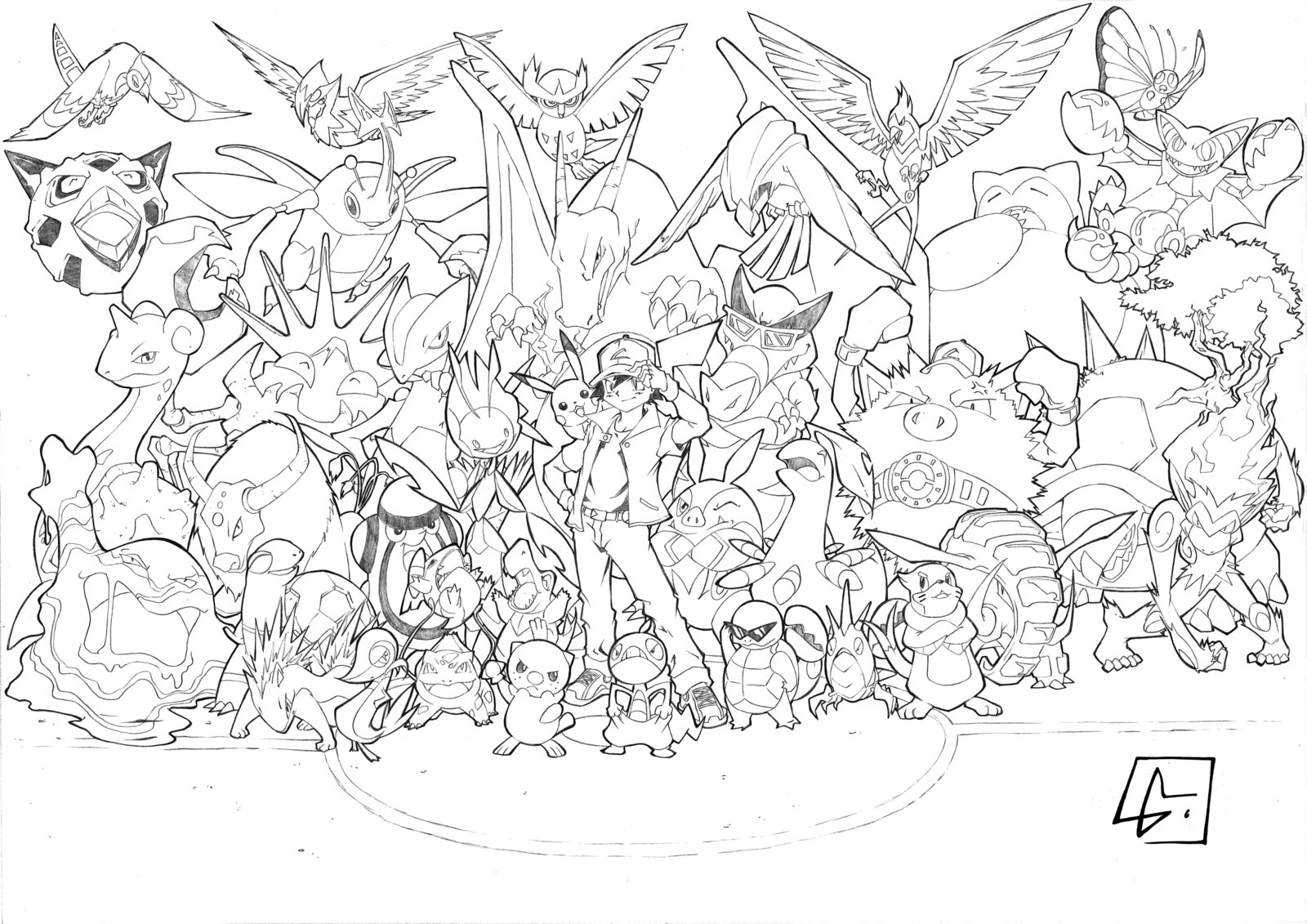 All pokemon coloring pages download and print for free