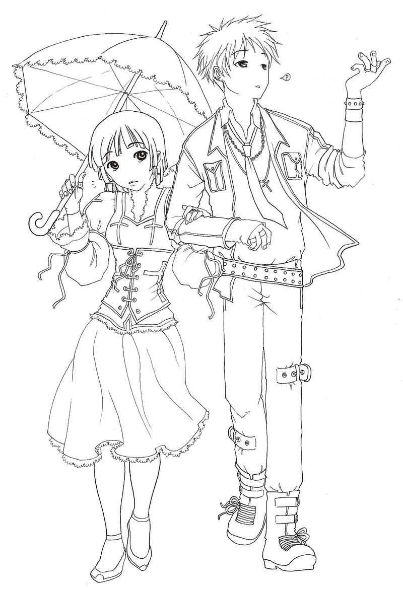 Gothic Girl Live Wallpaper Couple Coloring Pages To Download And Print For Free