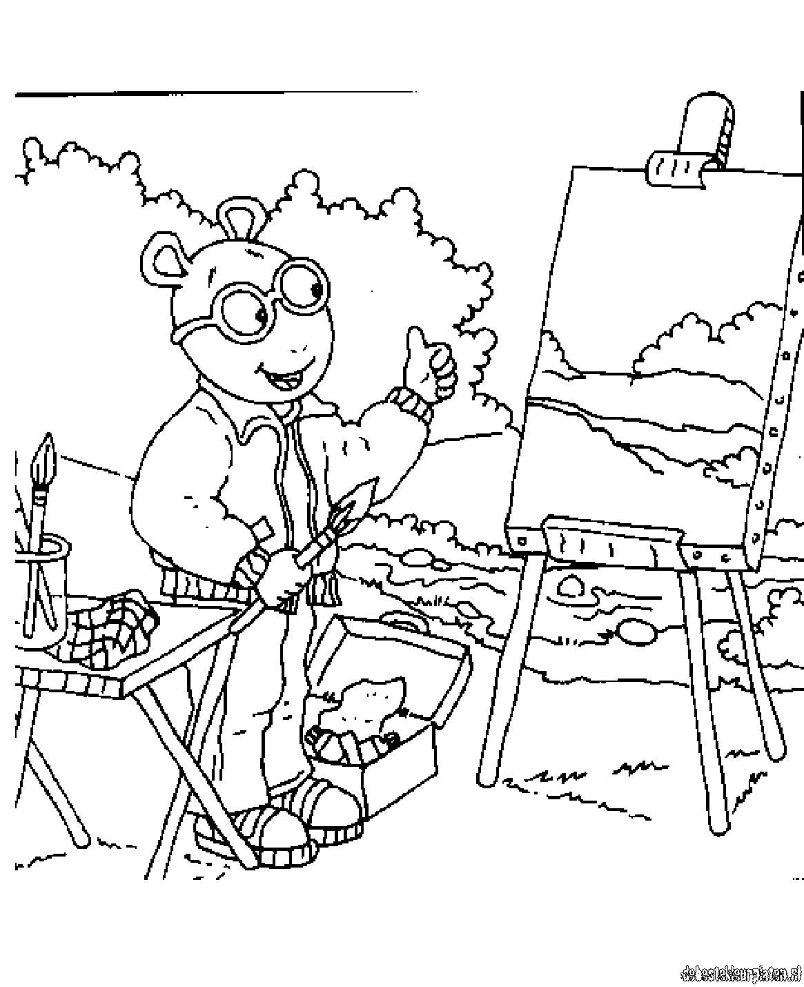 Arthur coloring pages to download and print for free