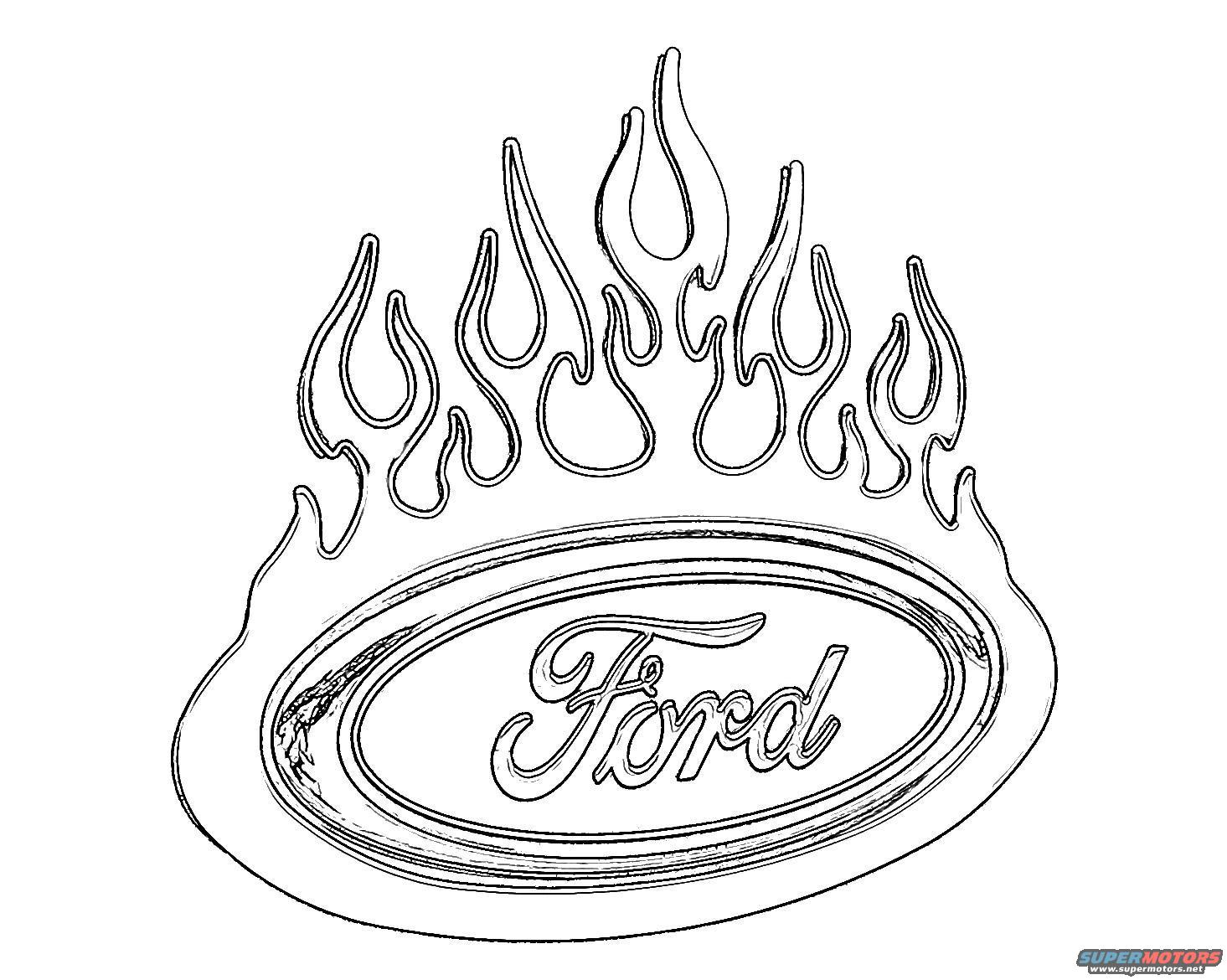 Ford trucks coloring pages download and print for free