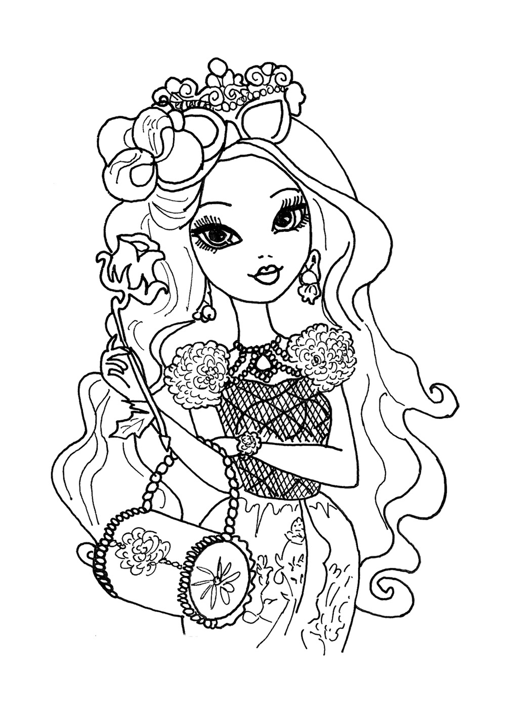 Ever After High coloring pages to download and print for free | colouring pages online to print