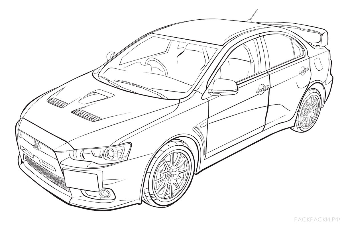 Mitsubishi Coloring Pages to download and print for free