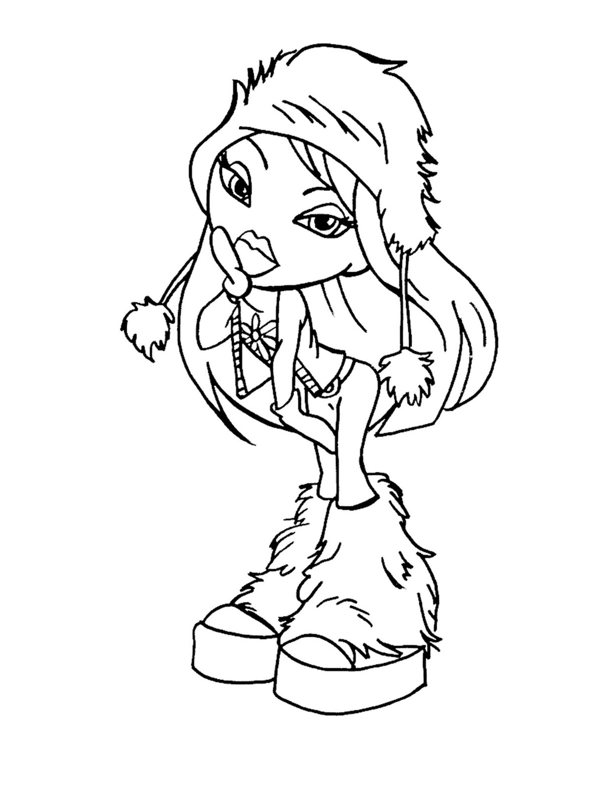 Bratz Barbie Coloring Pages Download And Print For Free