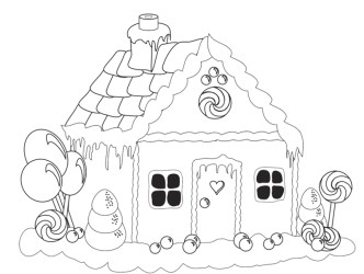 gingerbread coloring pages christmas cake birthday print