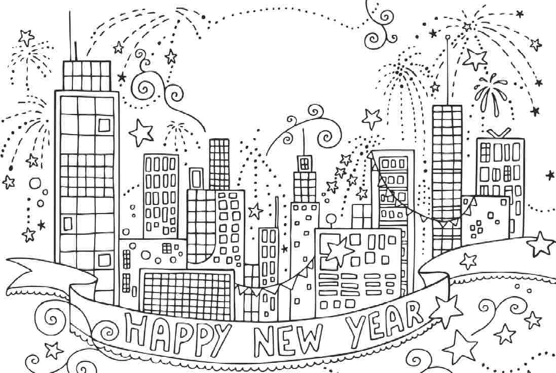 Firework coloring pages to download and print for free