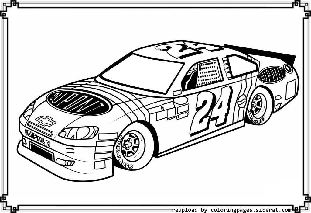 Nascar coloring pages to download and print for free