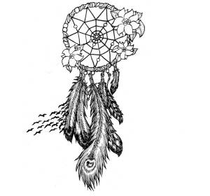 coloring pages dreamcatcher catcher dream adult tattoo mandala drawing colouring drawings feather tattoos feathers native cool horse flowers coloringtop sun