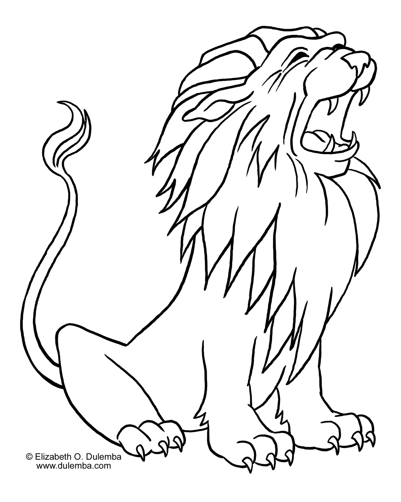 Lion Coloring Pages To Download And Print For Free