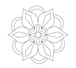 rangoli diwali coloring printable pages drawing patterns designs simple templates printables sketch mandala colour flowers stencil colours easy colouring flower