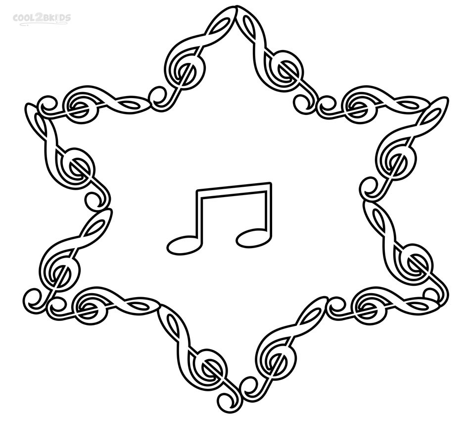 Music note coloring pages to download and print for free