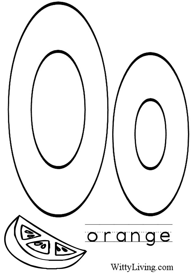 letter o coloring pages to download and print for free