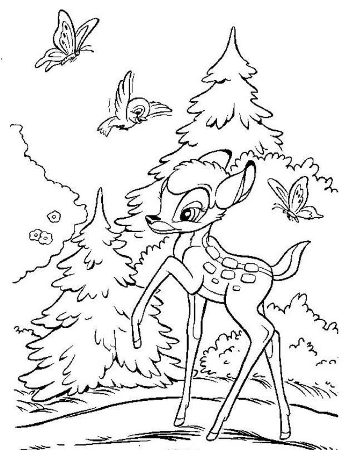 Bambi Coloring Pages To Download And Print For Free