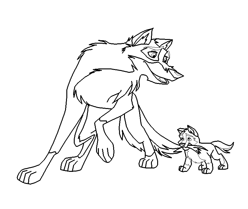 Balto coloring pages to download and print for free