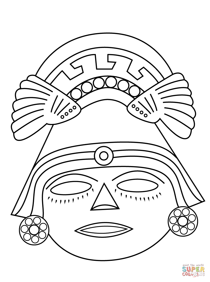 Aztec coloring pages to download and print for free